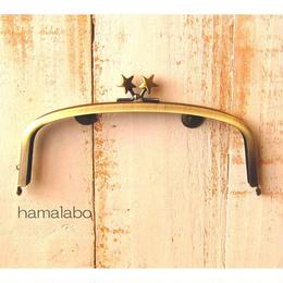 3月18日販売開始!【HA-1560】17cm/くし型の口金/(メタルスター×アンティークゴールド)