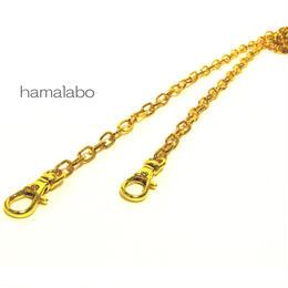 【HA-539】肩かけ用オシャレチェーン120cm(ゴールド)-軽いタイプ-