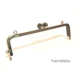 【HA-1292】碁石口金16.5cm/角型(シルバー)カン付き