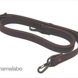 【HA-516】がま口バッグ用の肩下げ(ショルダーベルト茶色)-太め-アンティーク金具