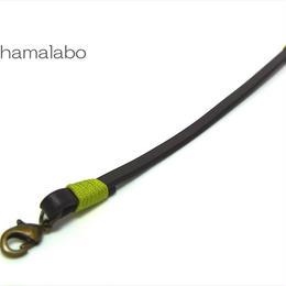 【HA-604】《高級レザー》がま口用の革紐(かわひも)22cm【アンティーク金具】