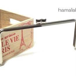 アウトレット 【HA-955】ベアネコちゃん口金 16.5cm/角型(シルバー)カン付き