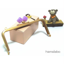 【HA-1378】13.5cm/角型(オーロラパープル×ソフトゴールド)・カン付き