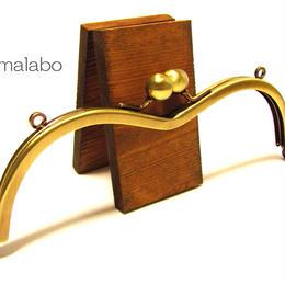 【HA-1263】メガネ型口金(アメ玉×アンティークゴールド)・カン付き