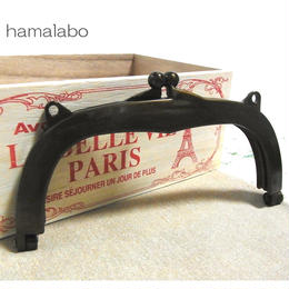 12月11日販売開始!【HA-867】18cm/くし型・プラフレーム口金(アンティークゴールド)