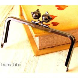 7月30日販売開始!【HA-484】12cm/角型(ネコ玉×ブラック)