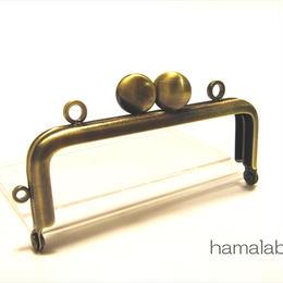 10月15日販売開始!【HA-1518】8.5cm口金/角型(アンティークゴールド)/カン付き-碁石つまみ-