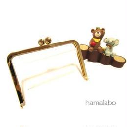9月13日販売開始!【HA-1544】12.5cm/角型口金(ゴールド)-碁石つまみ&足長