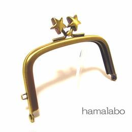 1月11日販売開始!【HA-1461】9.9cm/くし型の口金(メタルスター×アンティークゴールド)