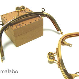特価!【HA-142】アメ玉口金 15cm/くし型(ゴールド)・兼用カン付き