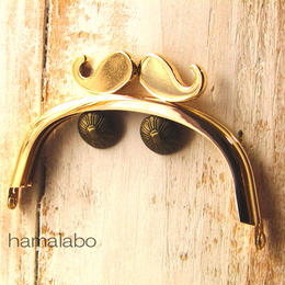 【HA-371】ヒゲ口金/10cmくし型(ゴールド)