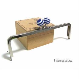<廃盤予定>【HA-1249】16.5cm/角型(青×白のマリンボーダー)・シルバー