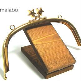 【HA-184】メタルスター口金(15cmくし型ゴールド)・カン付き