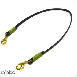 【HA-605】《高級レザー》がま口用の革紐(かわひも)41cm【ゴールド金具】