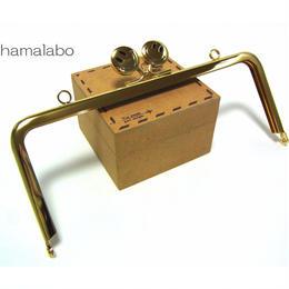【HA-1375】18cm/角型(スマイル君ゴールド×ゴールド)・カン付き