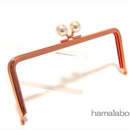<母の日セール>【HA-1434】18cm/角型(ホワイトパール玉×ローズゴールド-ピンクゴールド)