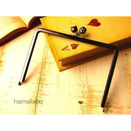 【HA-445】17.7cm角型(ネコ玉×肉球×ブラック)