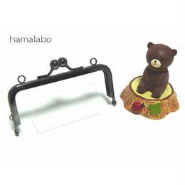 7月8日販売開始!【HA-1404】ミニアメ玉10cm/角型口金(ブラック)・カン付き