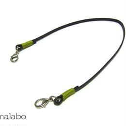 【HA-606】《高級レザー》がま口用の革紐(かわひも)41cm【シルバー金具】