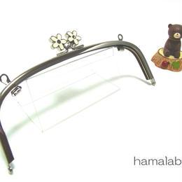 【HA-1277】20.4cm/くし型(メタルフラワー×シルバー)・兼用カン付き