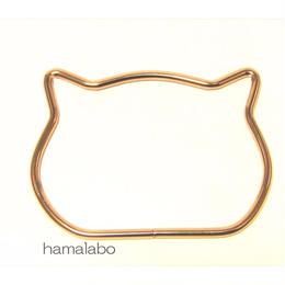 【HA-583】ネコ型リング持ち手/11.7cm(ゴールド)