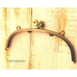 3月29日販売開始!【HA-473】24cmくし型/(トランプ×ウサギ×アンティークゴールド)・カン付き