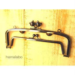 【HA-450】<廉価版>親子口金19cm(ネコ玉×ブラック)・カン付