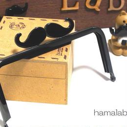 【HA-303】ヒゲ口金/12cm角型(ブラック)