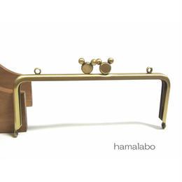 <アウトレット>【HA-1342】ハマラボちゃん口金 15cm/角型(アンティークゴールド)カン付き