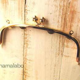 【HA-102】20.4cm/くし型(肉球/ゴールド)・兼用カン付き