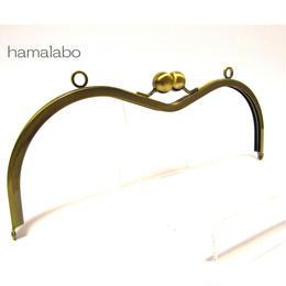 【HA-136】27.5cm大玉のメガネ型口金(アンティークゴールド)カン付き