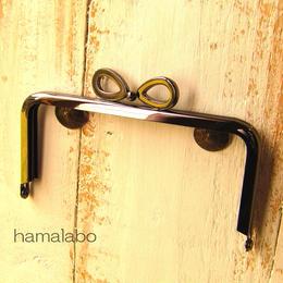 【HA-381】リボン口金/12cm角型(ブラック)