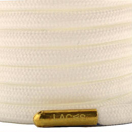 "ROPE LACES SOLID/METAL BULLET ""SNOW/METALGOLD"""