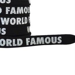 "FLAT LACES SOLID  ""WORLD FAMOUS / BLACK"""