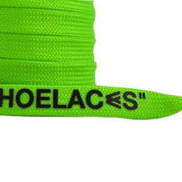 "FLAT LACES SOLID ""SHOELACES / NEON GREEN"""