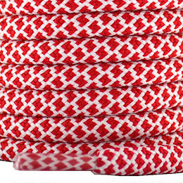 "ROPE LACES MIX ""RED/WHITE"""