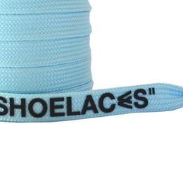 """FLAT LACES SOLID """"SHOELACES / LIGHT BLUE"""""""