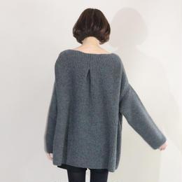 【先行予約】thomas magpie deformation knit grey