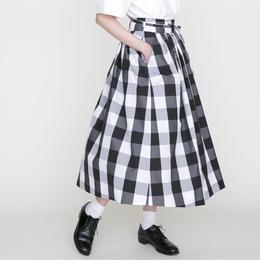 予約終了▷先行予約 thomas magpie skirt long check black