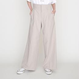 予約終了▷先行予約 thomas magpie trousers wide high weist beige