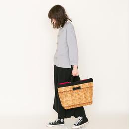 adjust strap tote fake basket black
