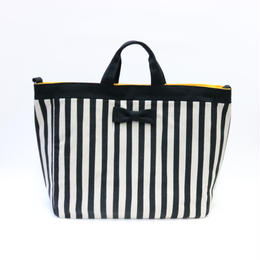 adjust tote strap stripes black
