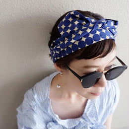 head dress dots royal blue