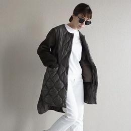 【先行予約】thomas magpie quilting coat khaki
