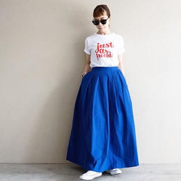 thomas magpie long skirt royal blue
