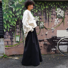 【完売】thomas magpie long skirt black