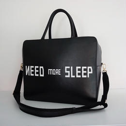 "【2018AW 先行予約】 leather line ""need more sleep"""