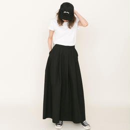 先行予約▶thomas magpie long skirt black