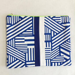 urban line mini clutch geometric blue