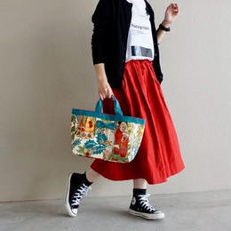 【online store限定】town mini  tote Frida cream turquise
